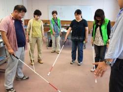 白杖の使い方講習会